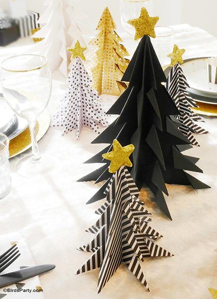 Idées décorations noel origamie
