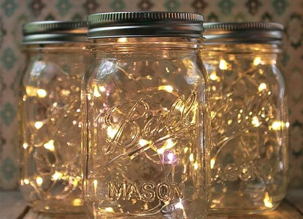 Idées décorations noel pot mason