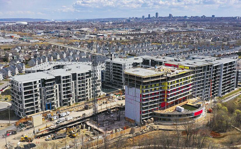 parcs de la société immobilière huot en construction