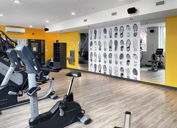 Le gym tout équipé qui est exclusivement accessible aux locataires des condos Les Diplomates.